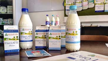 Communicating sustainable values and action with the Alessandria and Asti milk company.