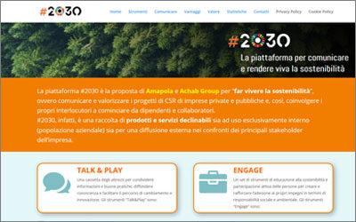 """www.comunicare2030.com, online la piattaforma di Amapola per """"far vivere la sostenibilità"""" in azienda"""