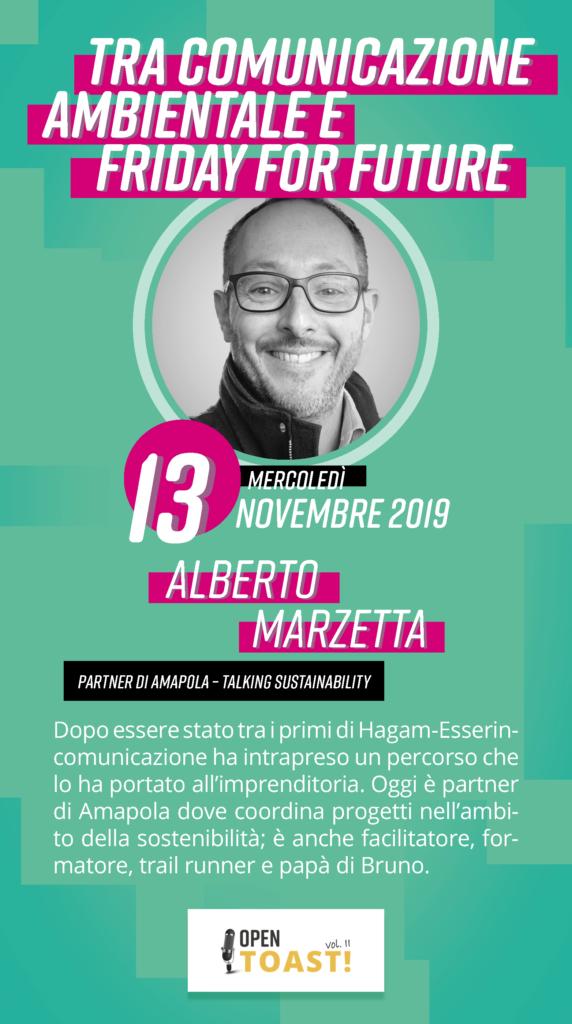 Alberto Marzetta Ospite ad Open Toast