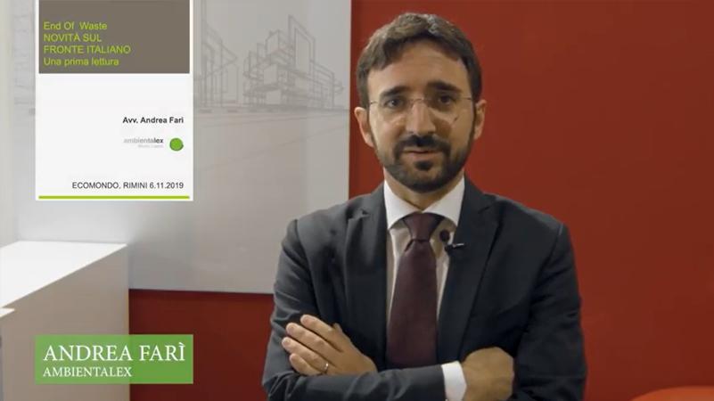 Ambientalex a Ecomondo con un convegno dedicato a End-of-Waste ed economia circolare. Le opinioni dei protagonisti nel video reportage di Amapola.