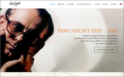 """Amapola progetta il website di Piero Fogliati, l'artista della """"Città fantastica"""""""