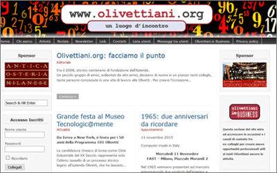 """Amapola riprogetta il sito della comunità """"olivettiani"""""""