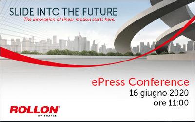 Rollon Spa presenta il progetto di Redesign tecnico ed estetico della gamma prodotti con una conferenza stampa digitale interamente curata da Amapola