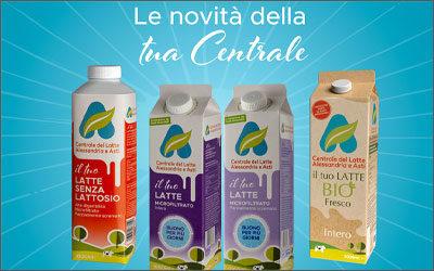 Packaging green per la Centrale del Latte di Alessandria e Asti