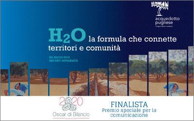 Oscar di Bilancio per la comunicazione 2020: sul podio Acquedotto Pugliese